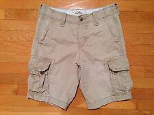 Hollister Men's Khaki Cargo Shorts, Size 28 - EUC, Flat Front - N4IO04