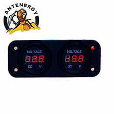 Dual Battery Monitor Volt Meter LED 12v 24v for Redarc ARB CTek Projecta R&
