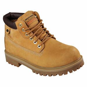 Skechers Men's Verdict Memory Foam Work Boot 4442 Wheat/Gum A7
