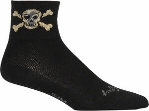 SockGuy Classic Pirate Socks | 3 inch | Black | L/XL