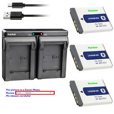 Kastar Battery Dual Charger for Sony NP-BD1 NP-FD1 D Type Battery BC-CSD Charger