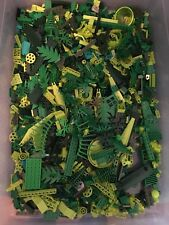 LEGO 50+ GREEN MIX OF PARTS PIECES HUGE BULK LOT RANDOM LEGOS LB