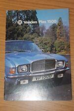 Vanden Plas 1500 Sales Folder Colour Sales Brochure Publication No. 3164 1976