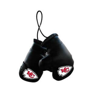 Kansas City Chiefs NFL Mini Boxing Gloves Rearview Mirror Auto Car Truck