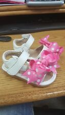Leather Squeaky Sandals with Clip On Bow Size 1 RUNS BIG