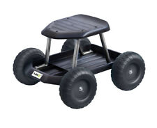 UPP Gartenwagen Rollsitz Gartenhelfer Rollwagen Sitzhilfe Hocker Sitz schwarz