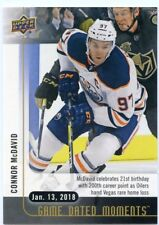 17/18 UPPER DECK GAME DATED MOMENTS #37 200 POINTS CONNOR MCDAVID OILERS *47875