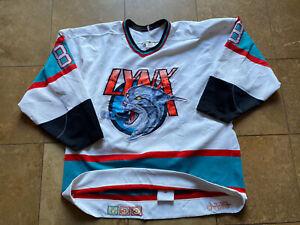 Saint Jean Lynx 1989 to 1995 Defunct Team CHL CCM Game Worn Hockey Jersey Men 50