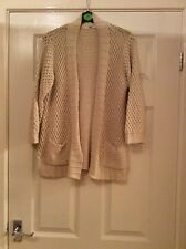 ladies oasis knitted cardigan size s (8) cream