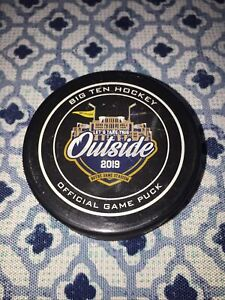 BIG 10 Lets Take This Outside OFFICIAL GAME PUCK  HOCKEY PUCK 2019