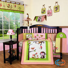 13Pcs Monkey Baby Nursery Crib Beddi