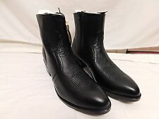 Road Wolf Boots 11M Men's Cowboy Boots Classic Zip-Up Half-Boot 1080 Black $169