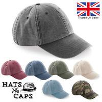 Vintage Washed Denim Baseball Cap Retro Style Summer Sun Hat Retro Cotton