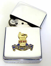 RAPC ROYAL ARMY PAY CORPS BADGED WINDPROOF CHROME PLATED LIGHTER