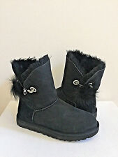 UGG IRINA BLACK SWAROVSKI CRYSTAL PIN /TOSCANA POM POM Boot US 9 / EU 40 /UK 7.5