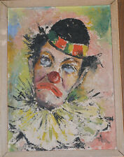 WILLIAM CARTER PAINTING AFRICAN AMERICAN ARTIST FRAMED CHICAGO CLOWN