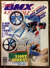 Vintage Original SUPER BMX & FREESTYLE Magazine 1987 Old School BMX GT Mongoose