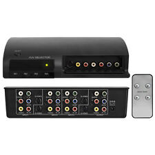 PRO2 AV41RGB 4-WAY AV SELECTOR WITH REMOTE COMPONENT SVIDEO COMPOSITE