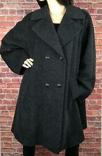 Gianfranco Ferre Forma Coat Grey Wool Mohair Blend Italy Made Oversized UK 18
