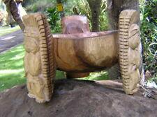 Hawaiian Style Tiki Gods KAVA Scorpion BOWL Hand Carved Monkey Pod Wood