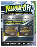 TWO SETS OF HEADLIGHT LENS RESTORATION RESTORER CLEANER WIPES FROM YELLOW OFF