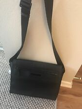 Calvin Klein Cross Body Leather Bag Men's Laptop Black Messenger Business Bag