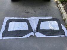 New 1997-2006 Jeep Wrangler TJ LJ Soft Top Front Upper Door Windows Pair Black