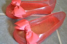 Gap Girl Shoes 9 Jelly Bow Ribbon Sandals Pink Summer Pool Swim 3T 4T
