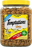 TEMPTATIONS Mix Ups Crunchy and Soft Cat food Treats Chicken  30-OZ