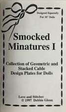 """New-Love & Stitches-Smocked Miniatures 1-Patterns for 18"""" American Girl Sz Dolls"""