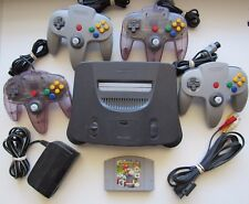 Nintendo 64 Console + 4 OEM Controllers + Mario Kart - TESTED - SUPER FAST SHIP!