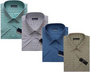 New Mens King Size Short Sleeve Summer Check Shirts 3XL - 6XL By Tom Hagan