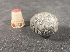 Antique Sterling Silver/ 800 ? Egg Thimble Case