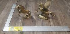 """Bronze 8"""" Pair Of Unicorn & Pegasus Statues"""