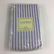 2 Ralph Lauren Standard Pillowcases Studio Shirt Stripe Wild Aster Purple RARE