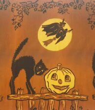 Vintage Halloween Crepe Paper Bolt w/ Original Wrapper Carco C.A. Reed Co 1930s