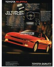 1988 Toyota Supra Red Vtg Print Ad