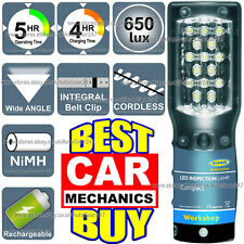 NEW Ring RIL2500 15 LED Professional Rechargeable Cordless Inspection Lamp Torch