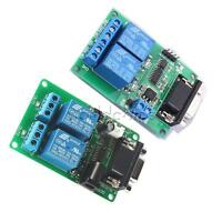 2 Channel RS232 Serial Port  Relay Module DC 5V 12V DB9 Interface PC Relay