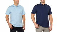 NEW IZOD Men's Short Sleeve Cotton Slub Polo Shirt