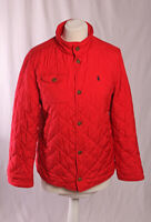 Polo Ralph Lauren Quilt Jacket Red Girls Teens 14-16 Fits Size Small VGC!