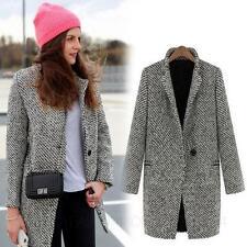 Black and White Classic Elegant Indie Winter Overcoat Celebrity Coat Sz 10