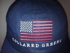NEW*AMERICAN MADE*COLLARED GREENS*Whimsical Baseball Hat*FLAG*Adjust-Buckle*1-Sz