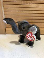"Rare TY Beanie Error Tag 1965(KR) P.E. Pellets ""OAKBROOK"" 2000 TRUMPET Elephant"