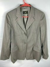 Luciano Barbera Womens Blazer Size Italian 44 Gray Wool EUC Italy Made