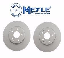 2-Meyle GEOMET®Anti Rust Coated Front Brake Rotors Mercedes C CLK E SLK