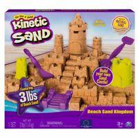 Kinetic Sand Beach Kingdom Playset 3lbs Castle Themed Molds Multi Use Tools Box