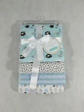 New Petite L'Amour for Baby 100% Cotton receiving blankets (Blue)
