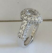 1 ct Pear Shape/Rounds Simulated Diamonds,  Sterling Silver 925,Size 7