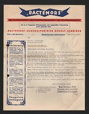 GÜLS-KOBLENZ, Brief 1939, BACTEMORS Desinfektionsmittel